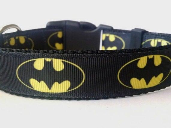 Batman Dog Collar Large