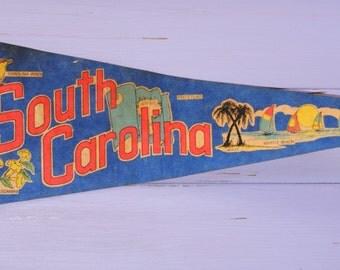 Vintage South Carolina Felt Pennant