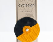 Cyclesign Wheel Reflector Large - Yellow - One-off Bicycle Accessory, make your Bike unique!