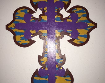 """15"""" stacked wood cross"""