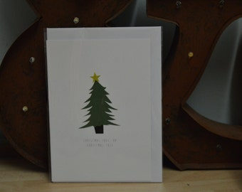Digitally Printed 'Oh Christmas Tree' A6 Card With Envelope LIMITED EDITION