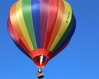 Rainbow Coloured Hot Air Balloon, Fine Art, Photograph, Photography, Alison Zak-Collins, Bristol, England, United Kingdom
