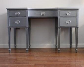 SOLD****Vintage Mahogany Slate Grey desk/Vanity
