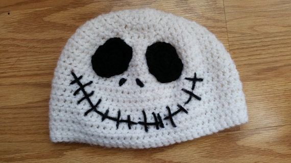 Crochet Jack Skellington : Crochet Jack Skellington Beanie by ToCraftAHome on Etsy