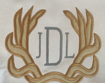 Antler Appliqué with Monogram