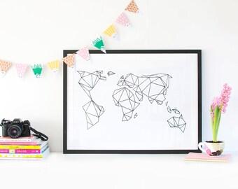 Artprint / geometric world