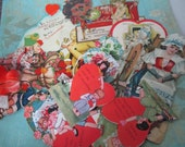 Vintage Valentines day cards 11 pieces lot k