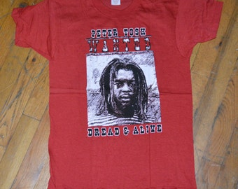 1981 PETER TOSH vintage concert tour reggae mens band shirt (S) Small 70's 80's 1970's 1980's rare original tshirt tee Bob Marley Wailers