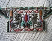 Antique Silk Embroidered  Applique with Metallic Accent  (Ref A-3869/1 Box 1)