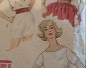 Vintage Simplicity 3480 Sewing Pattern Size 12 Tops and Blouses