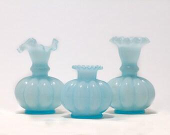 Fenton Melon Vases