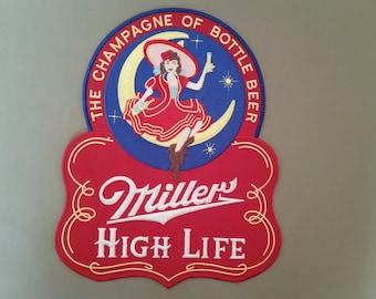miller high life beer back patch