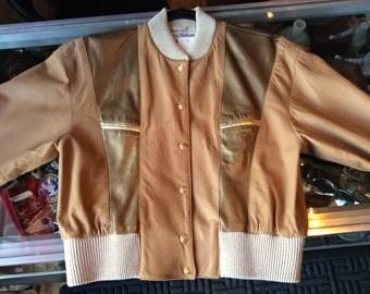 90s gold Metalic jacket