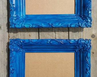 2 gorgeous blue 4 x 6 Picture Frames