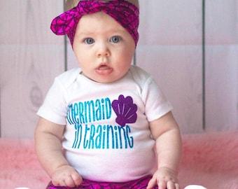 Mermaid in Training, mermaid baby, merbabe, baby onsie, mermaid outfit , little mermaid, mermaid t shirt, mermaid onsie