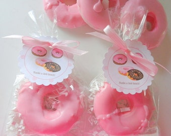 10 Strawberry Donut Soap Favors, Party Favors, Special Occasions, Showers, Birthdays, Donuts, Custom Favors