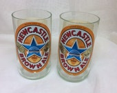 Newcastle Brown Ale Beer Glasses (Recycled Bottles) Set of 2