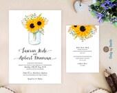 Mason Jar Wedding Invitat...