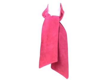 Pink Suede Scarf