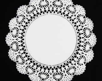 "50 - 12"" WHITE Cambridge PAPER Lace DOILIES 