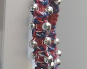 Red/White/Blue Beaded Bracelet