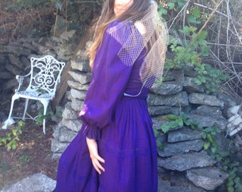 Vintage Mexican Wedding Dress in Plum Fantasy Sale was110.00  now  65.00,,