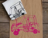 Unique Gift Bag Screen printed with Wire Car Design in PINK ink Giftbag