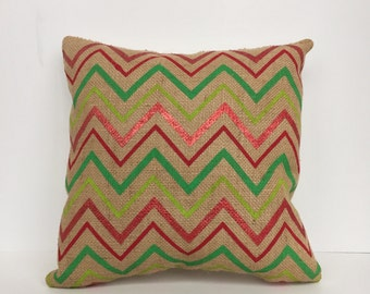 Holiday Burlap Accent Pillow