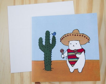 "CARD: ""Meowracas"" featuring a cat playing -- wait for it -- MEOWracas!!"