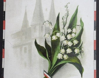 Postcard Intimate Greetings Lilly of the Valley Church