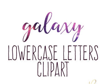Instant Download - Galaxy lowercase Alphabet Clipart