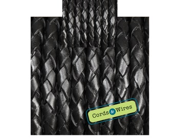 CW06300 - 0,40 meter x 6,00mm Braided Leather Cord