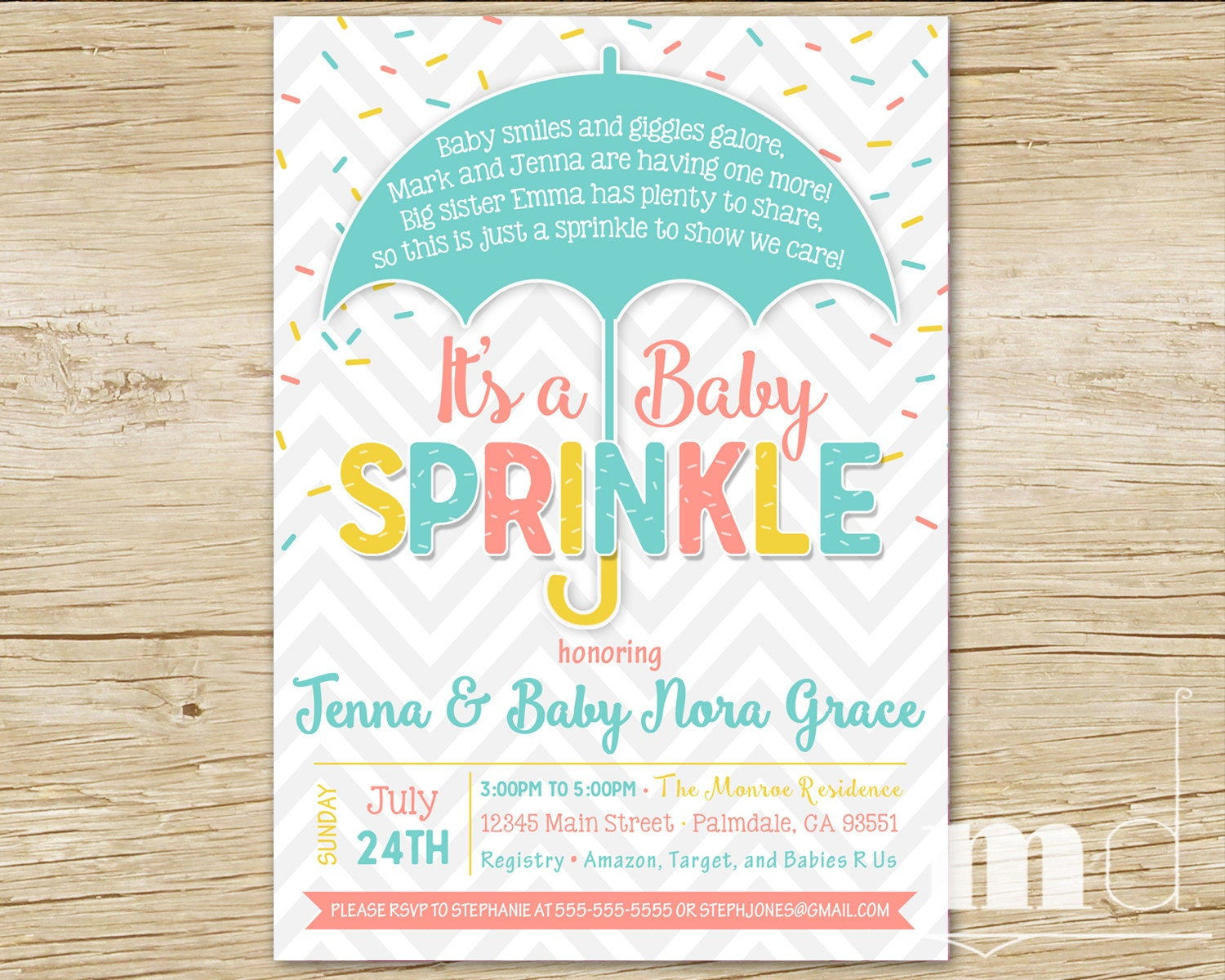 Baby Shower Sprinkle Images ~ Sprinkle baby shower invitation party