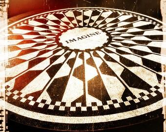 Imagine, John Lennon, Photography, New York City, Central Park, Strawberry Fields, NYC, Beatles, FREE SHIPPING!