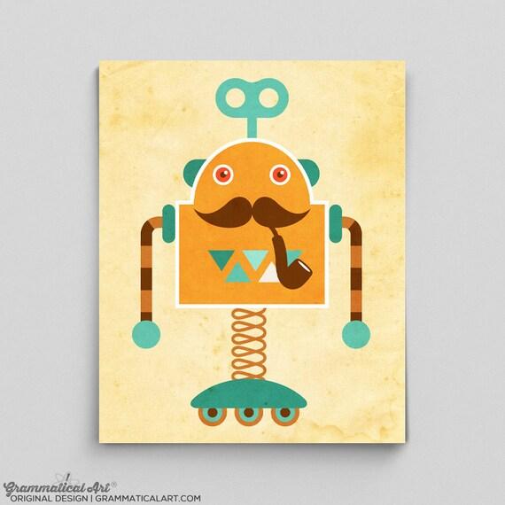 impression de robot de robot tout mignon affiche science ppinire robot affiche garon ppinire ides ingnierie - Affiche Garcon Robot