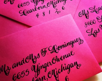 SPENCERIAN : Custom Wedding Calligraphy Envelope Addressing Spencerian Script