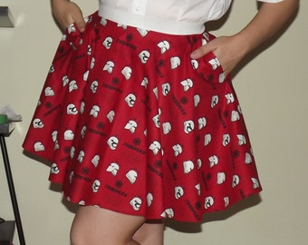 Red Star Wars Trooper Skirt with POCKETS - Custom Size