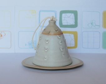 Ceramic bell Clay bell Handmade pottery bell Ceramic and pottery Handmade bell Decorative bell Stoneware bell Ceramic decor