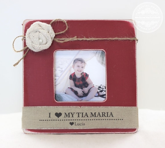 Tia tio christmas gift personalized picture frame for aunt