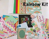 Rainbow Themed Card Making Kit - Anytime Cards, Kid's Card Making Kit, Activity Kit For Kids, DIY Card Making Kit For Children