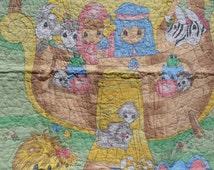 Precious Moments Noahs Arc Crib Quilt, Precious Moments Crib, Gender Neutral Nursery, Religious Crib, Baptism Present, New Baby Gift