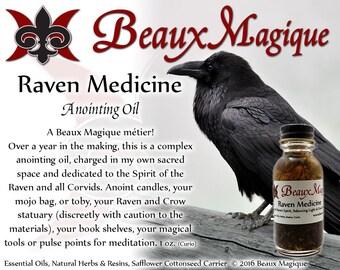 Raven Medicine ~ Altar Oil, Conjure Oil, shapeshifting, rootwork, pagan, shamanism. voodoo oil, rootwork oils