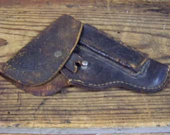 Leather Pistol Holster Vintage Leather Gun Holder Handgun Holster