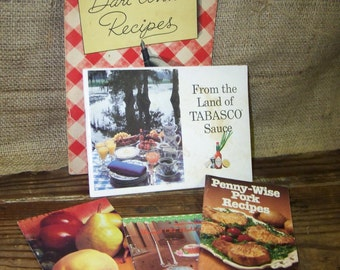 Vintage Recipe Booklets Dari Anns Recipes Nordic Ware Recipes Tabasco Sauce Pamphlet