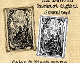 Fairy and mermaids, digital printable download page