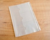 Plastic Card Holder & Zipper Pouch for Traveler's Notebook - A5 SIZE