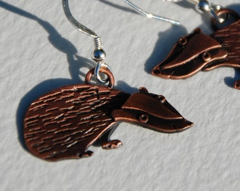 Badger copper finish earrings *NEW*