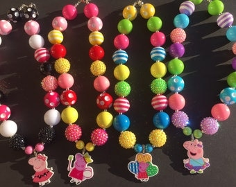 Peppa Pig Chunky Necklaces