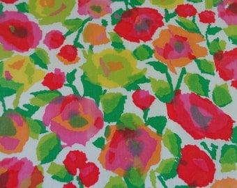 Mod Flower Fabric 1960's Vintage Fabric