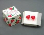 Vintage AVON 'Precious Rose' Acrylic Pierced Earrings (1989). Pink Rose Earrings. Vintage Children Jewelry. Vintage Avon Jewelry.